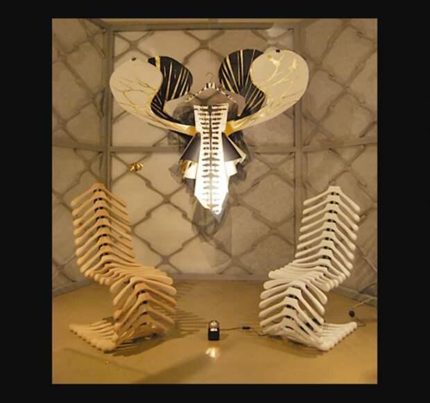 мебель своими руками из вешалок плечиков