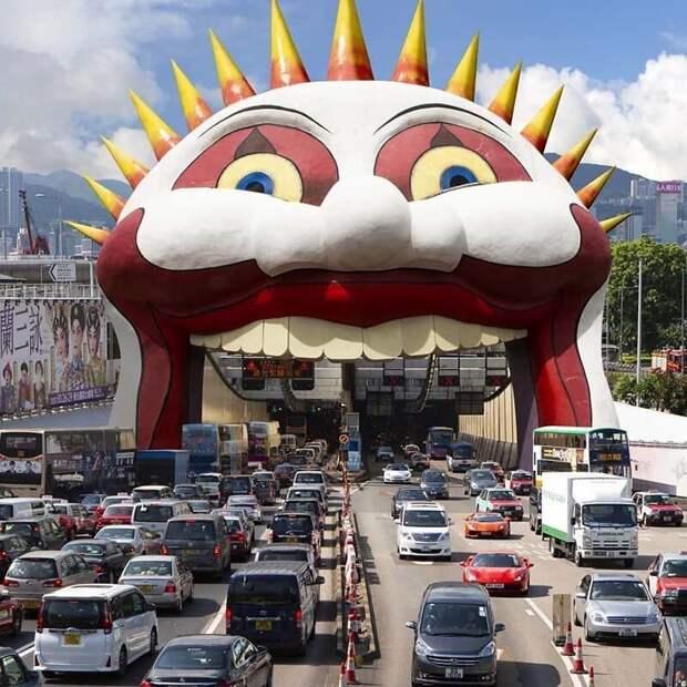 19. Давайте улыбнёмся этому трафику Томми Фанг, гонконг, забавно, талант, фантазия, фото, фотошоп, художник