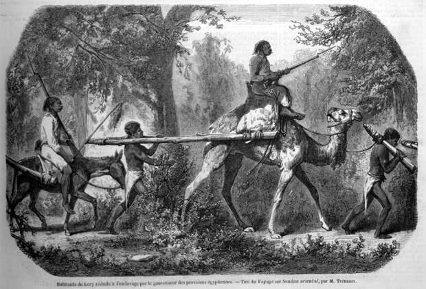 Конвоирование плененных рабов (Восточный Судан, 1848 год)