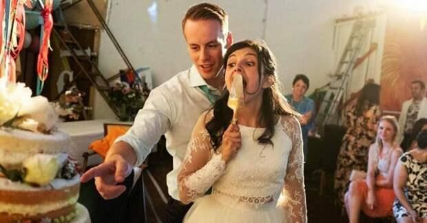 Необычные свадебные фото молодоженов