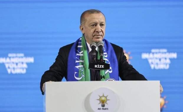 Эрдоган обвинил США вподдержке курдских «террористов» вИраке иСирии