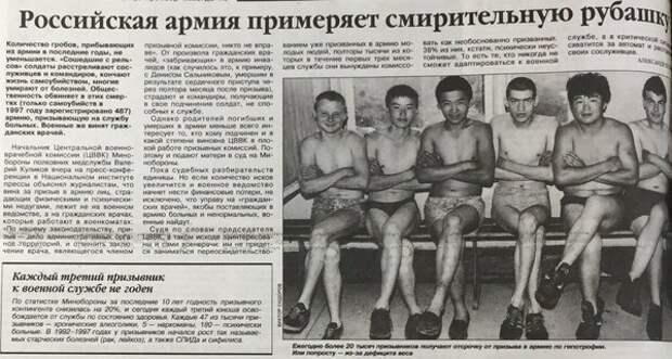 О развале российской армии в конце 90-х