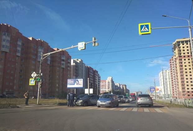 Авария на улице Большой в Рязани стала причиной большой пробки
