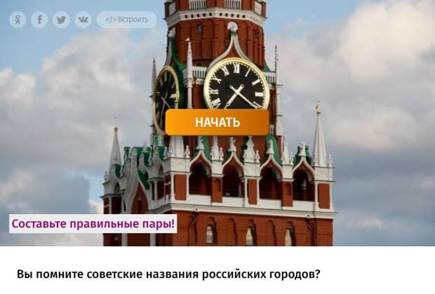 Тест: Вы помните советские названия российских городов?