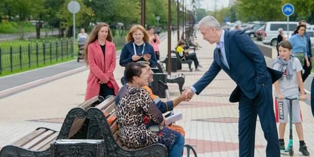 Собянин осмотрел ход работ по комплексному благоустройству ЦАО и ЮВАО. Фото: mos.ru