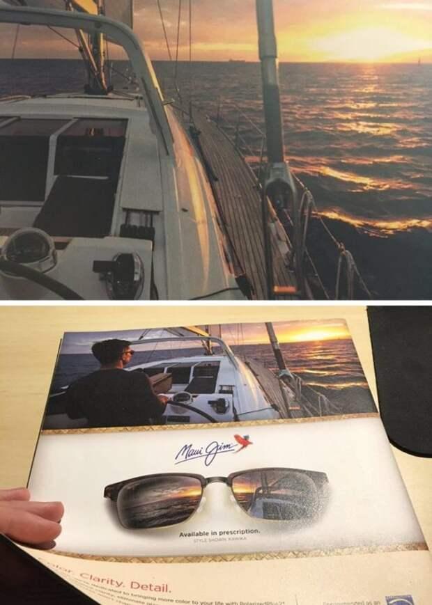 фото яхты в журнале