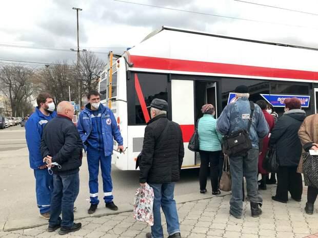 В Симферополе мобильный пункт для вакцинации против COVID-19 может принять до 200 человек в день
