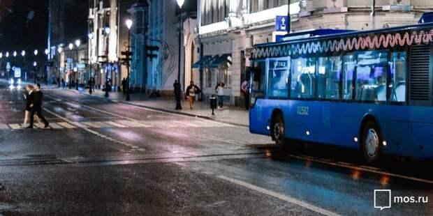 В Бабушкинском изменится схема движения ночного автобуса