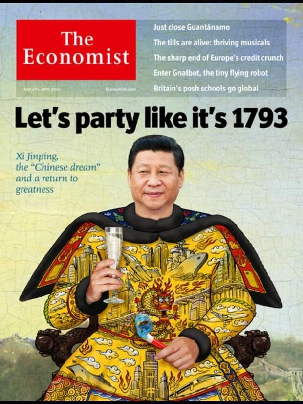 """Обложка журнала """"Economist"""" за май 2013 г. с портретом Си Цзиньпина издания, издевательство, интересное, мир, обложки, политики, странное"""