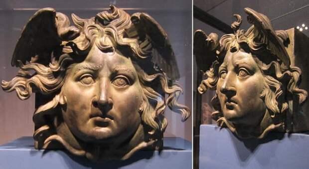 Голова Медузы-Горгоны, найденная на корабле.