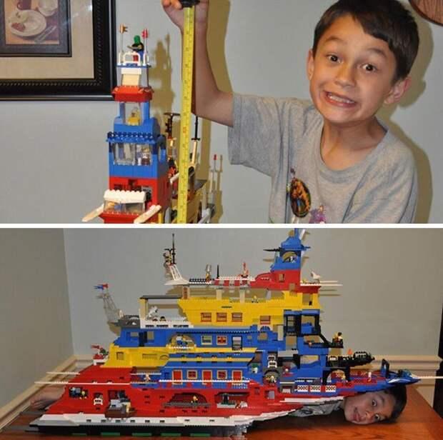 """18. """"Как-то мы с отцом построили гигантский корабль длиной с меня и высотой 76 см"""" забавно, отцы, папы, подборка, приколы, смешно, фото, юмор"""