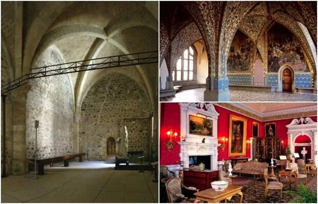Яркие интерьеры средневековых замков вое-где сохранились, но чаще остались лишь серые стены. /Фото: livejournal.com, holiday.by, blair-castle.co.uk