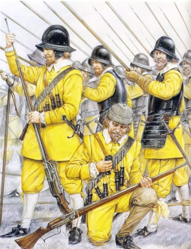 Шведская пехота Густава Адольфа. /Фото: warspot-asset.s3.amazonaws.com