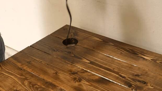 Отличный компьютерный стол из обрезной доски: практично, долговечно и со вкусом
