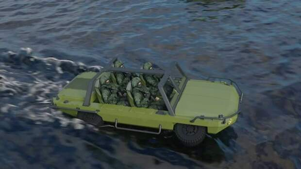 Проект автомобиля-амфибии от завода «КРИЗО»