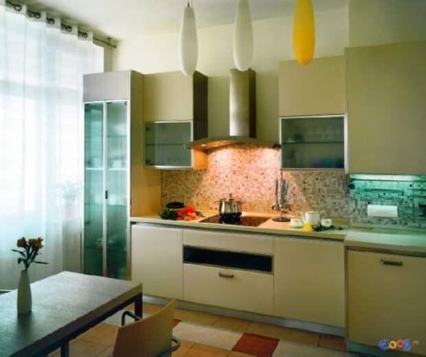 Оливковая мебель требует более яркого освещения
