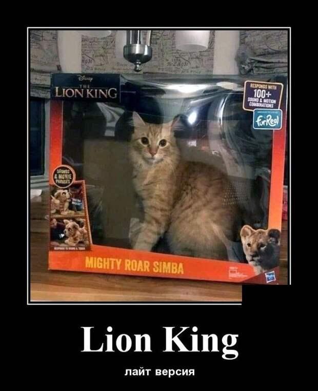 Демотиватор про короля льва