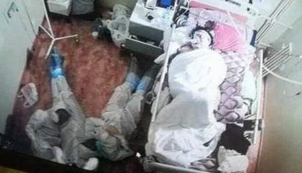 Ночевавшие возле пациентки с COVID-19 медики оказались студентами