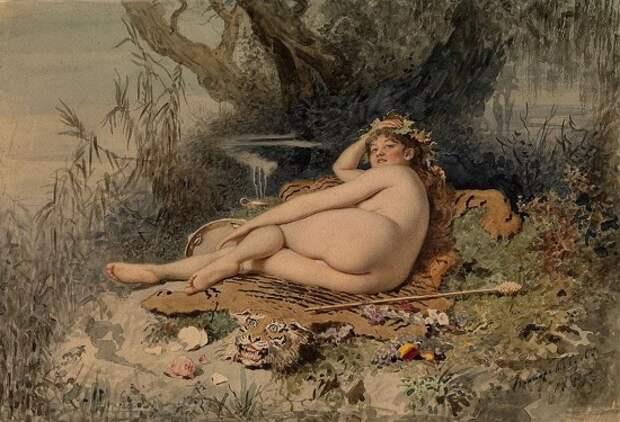 Художник Виктор Бобров (1842 – 1918). Очаровательные женские головки