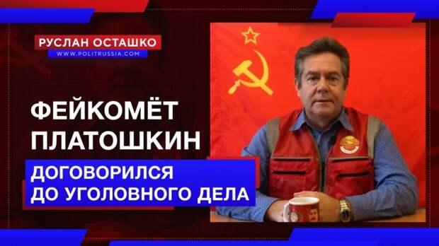 Фейкомёт Платошкин договорился до статей УК