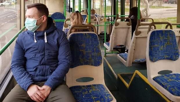 Более 90% пассажиров транспорта Подмосковья надели маски в среду