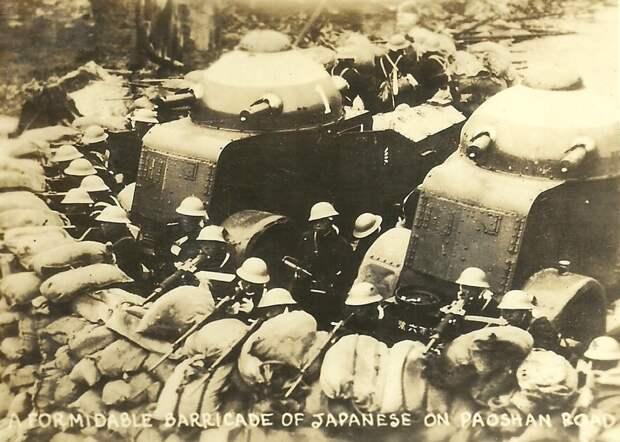 Японская баррикада в Шанхае img.sonicch.com - Шанхай-1932: проба сил перед большой войной   Военно-исторический портал Warspot.ru