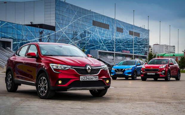 Renault Arkana, Nissan Qashqai, Kia Sportage: проверка бездорожьем и асфальтом