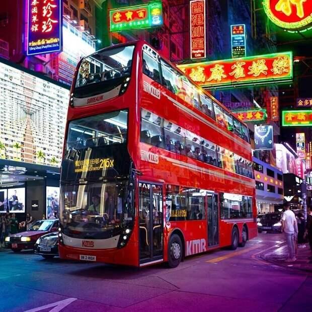 30. Новый трёхэтажный автобус уже на рейсе! Ты хочешь его опробовать? Томми Фанг, гонконг, забавно, талант, фантазия, фото, фотошоп, художник