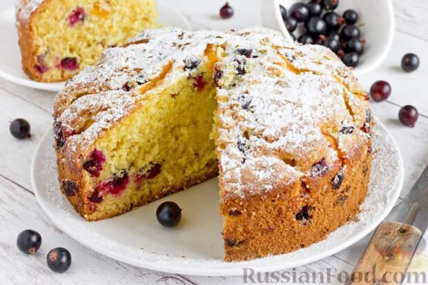Абрикосово-смородиновый пирог на ряженке - нарядно, лаконично и волшебно вкусно!