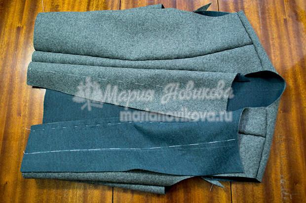 Подготовить куртку к примерке