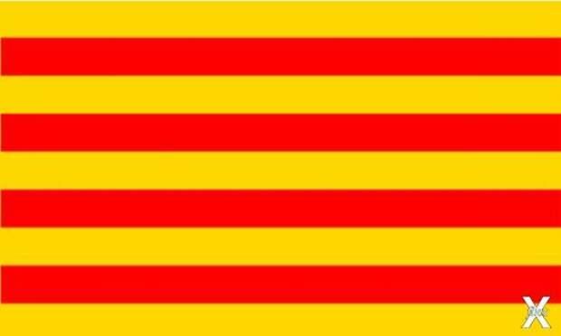 Флаг Графства Руссильон – Лангедок