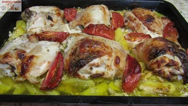 Курица с картошкой в кефире Курица с картошкой, Вторый блюда, Блюда в духовке, Кулинария, Видео рецепт, Видео, Длиннопост