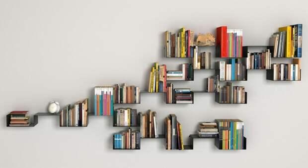 Необычные полки под книги (подборка)