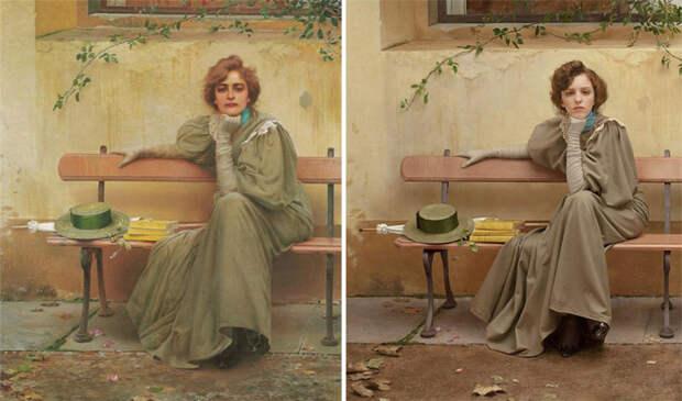 Классика живописи, воссозданная спомощью фотографии
