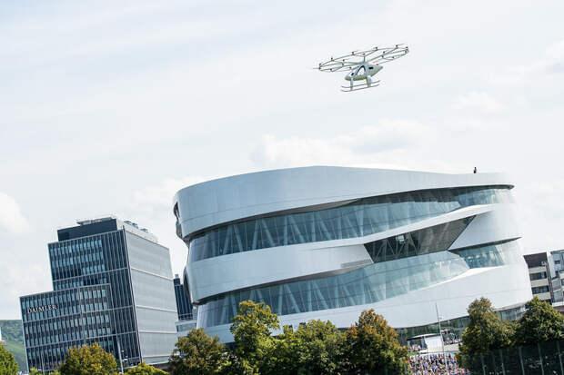Volocopter провел демонстрационный полет аэротакси в Штутгарте: видео