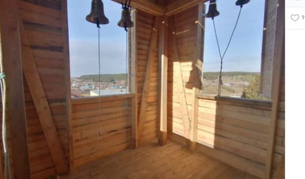 ВОмской области восстановили 100-летнюю колокольню