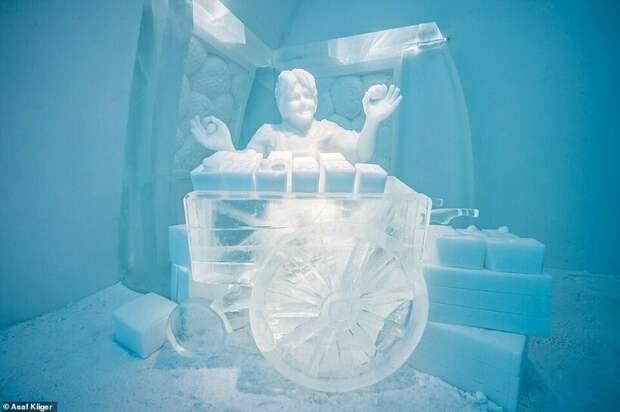 Зимняя сказка: уникальный отель из снега и льда в Швеции