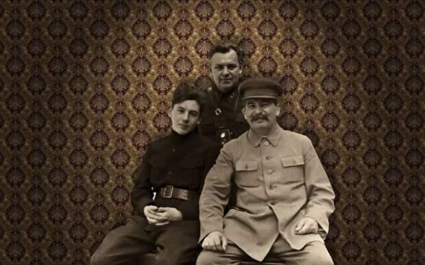 Василий Сталин, Николай Власик, Иосиф Сталин, 1935 год. Коллаж © L!FE Фото: © Wikipedia.org