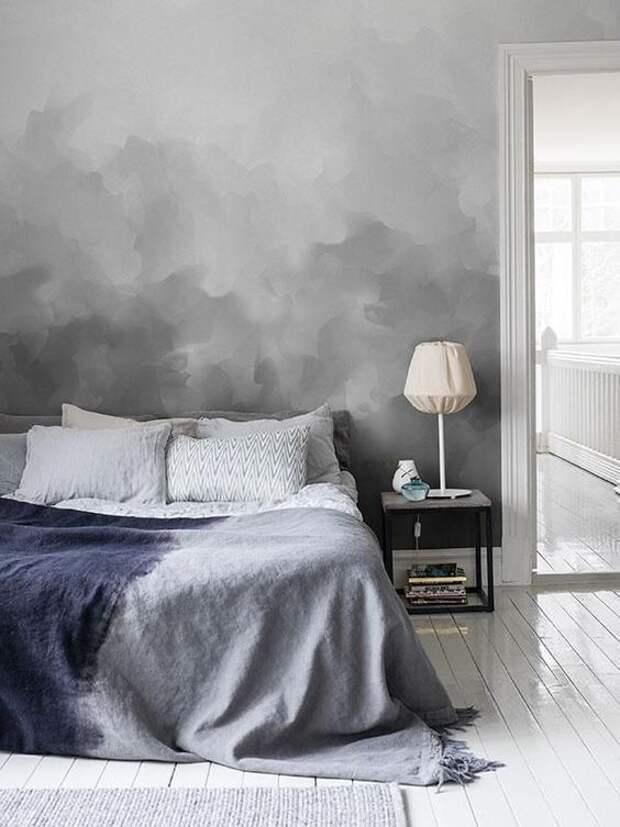Окраска стен в технике омбре для истинных поклонников настоящего стиля