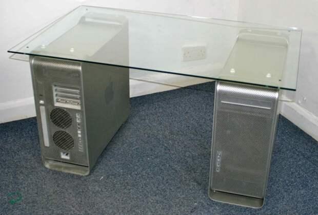 3. Выносливые блоки сгодятся для IT-мебели компьютер, новая жизнь старых вещей, процессор, своими руками, системный блок
