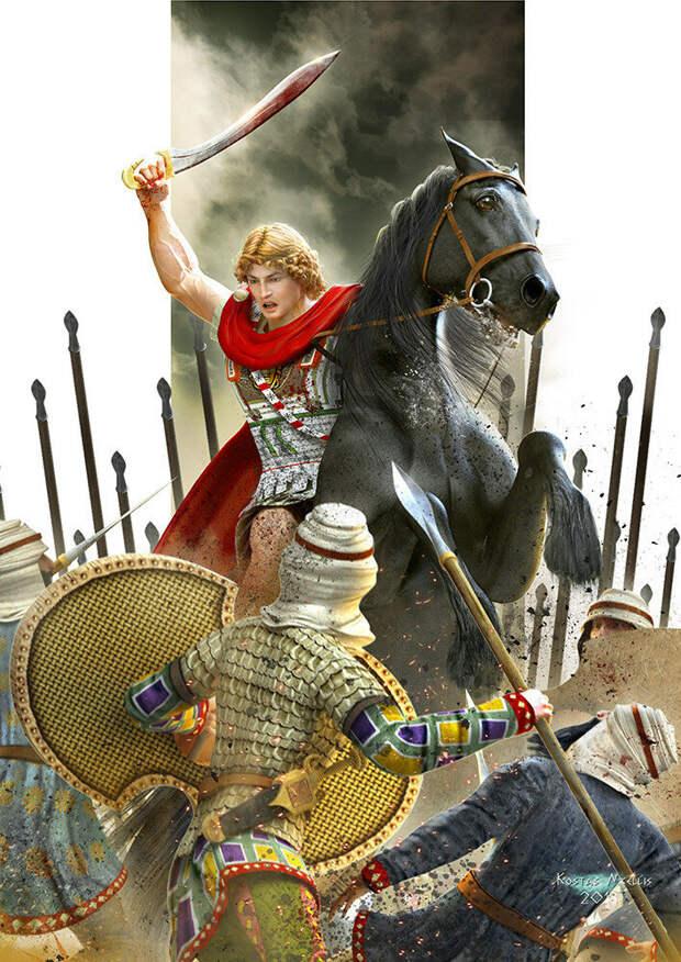 Царь Македонии и один из величайших завоевателей в истории / © Kostas Nikellis / kosv01.artstation.com