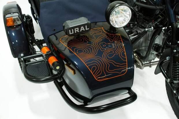 Ural Baikal Limited Edition покрашен в новый металлик «Baikal Blue», в то время как внутренности покрашены в оранжевый цвет Ural Yamal. авто, байкал, мото, мототехника, мотоцикл, мотоцикл ураз, урал, экспорт