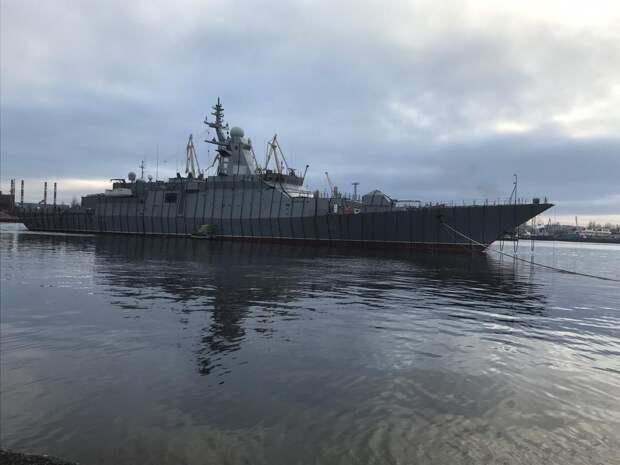 Российский сторожевой корвет «Гремящий» вышел в Финский залив для проведения испытаний