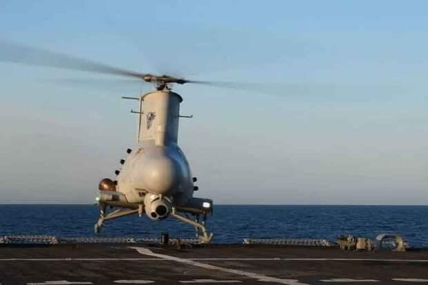Беспилотный вертолёт Scout протаранил военный корабль США