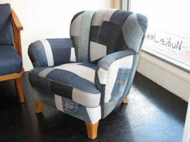Ещё одно кресло из джинсов