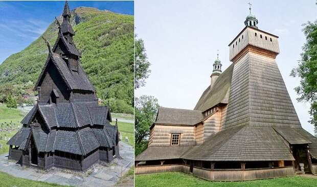 Деревянные церкви Европы.