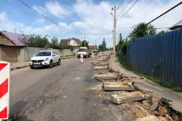 В Тамбове продолжаются дорожные работы