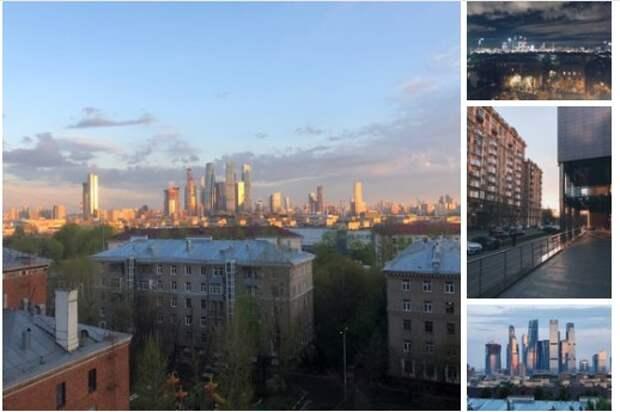 Фото дня: рассветное солнце золотит крыши многоэтажек в Хорошево-Мневниках