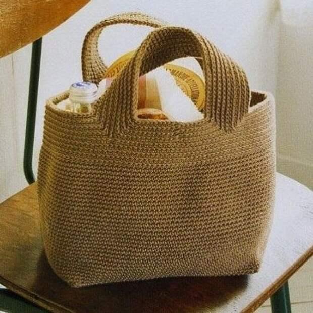 Модная сумка крючком