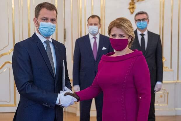 Президент Словакии Зузана Чапутова и премьер-министр Игорь Матович Фото: REUTERS